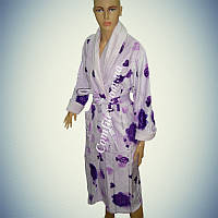 Женский велюровый халат (Длинный с воротником) 2XL - 54-56 - Турция ht-040