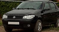 Дефлектор капота (мухобойка) Fiat Albea 2007- Vip Tuning
