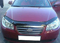 Дефлектор капота (мухобойка) Hyundai Elantra 2007-2011 EGR SIM VIP Tuning