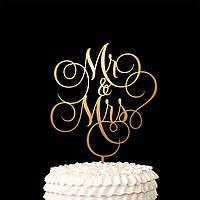 Топпер на свадьбу MR & MRS в торт, декорации, дерево
