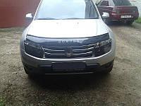 Дефлектор капота (мухобойка) Renault Duster 2010- SIM VIP Tuning
