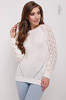 Вязаный женский свитер Кивана из хлопка, фото 1