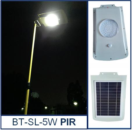 Светильник на солнечной батарее с датчиком движения BT-SL-5W PIR