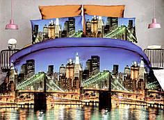 Полуторный набор постельного белья из Полисатина №011 Черешенка™