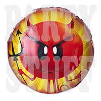 Фольгированный шар Эмоджи Злой, 44 см