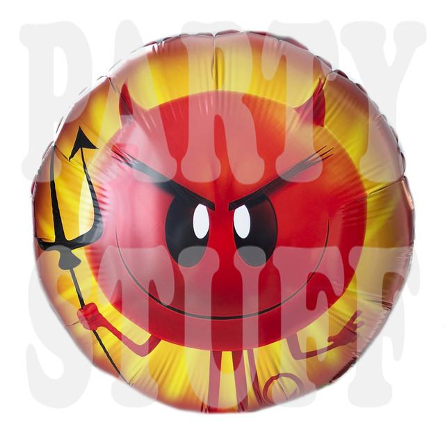Фольгированный шар Эмоджи Злой
