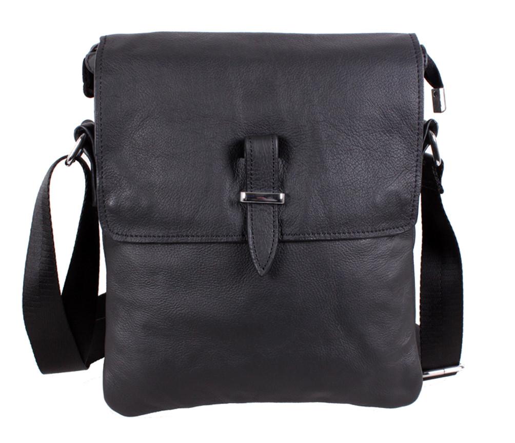 Мужская кожаная сумка MESS8140 черная