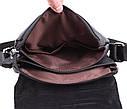 Мужская кожаная сумка MESS8140 черная, фото 8