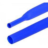Термоусадочная трубка 24мм, синяя, 1м