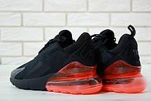 Кроссовки мужские Найк Nike Air Max 270 Black Red . ТОП Реплика ААА класса., фото 2
