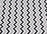 Лоскут ткани №1047 с густым зигзагом серо-чёрного цвета , фото 2