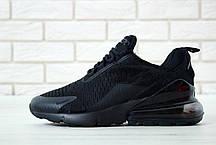 Кроссовки мужские Найк Nike Air Max 270 Black/Black. ТОП Реплика ААА класса., фото 3