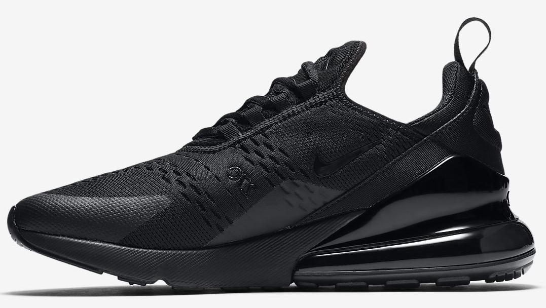 Кроссовки мужские Найк Nike Air Max 270 Black/Black. ТОП Реплика ААА класса.