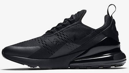 Кроссовки мужские Найк Nike Air Max 270 Black/Black. ТОП Реплика ААА класса., фото 2