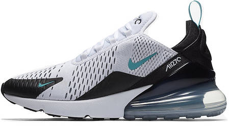 ff41d5b5 Кроссовки мужские Найк Nike Air Max 270 Black/White/Green. ТОП Реплика ААА