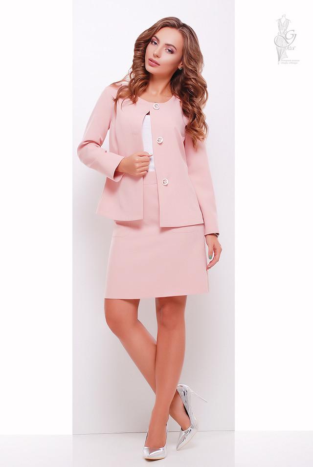 Цвет розовый Стильного женского жакета Мила