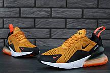 Кроссовки мужские Найк Nike Air Max 270 Orange. ТОП Реплика ААА класса., фото 2