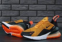 Кроссовки мужские Найк Nike Air Max 270 Orange. ТОП Реплика ААА класса., фото 3