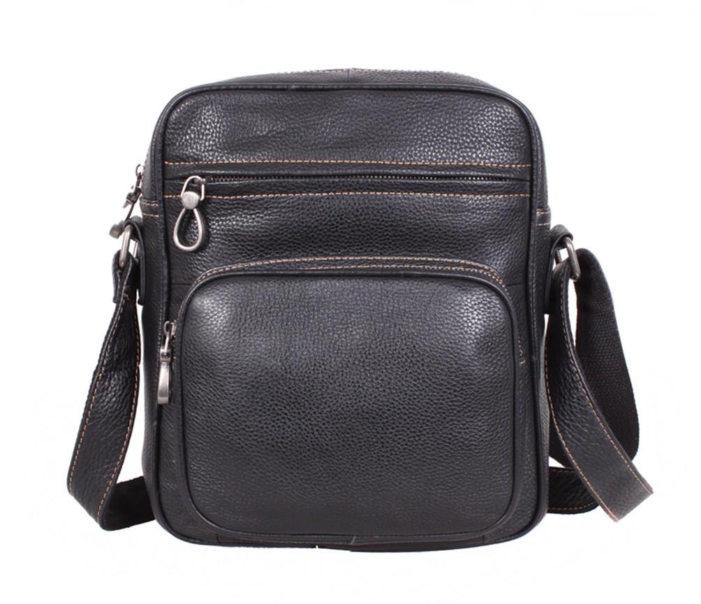 Мужская кожаная сумка LA3225-1BLчерная