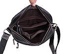 Мужская кожаная сумка LA3225-1BLчерная, фото 7