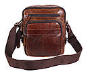 Мужская кожаная сумка BR5262 коричневая, фото 2