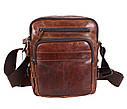 Мужская кожаная сумка BR5262 коричневая, фото 3