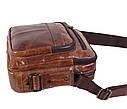 Мужская кожаная сумка BR5262 коричневая, фото 4