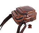 Мужская кожаная сумка BR5262 коричневая, фото 5