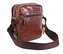 Мужская кожаная сумка BR5262 коричневая, фото 7