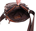 Мужская кожаная сумка BR5262 коричневая, фото 8