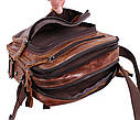 Мужская кожаная сумка BR5262 коричневая, фото 9