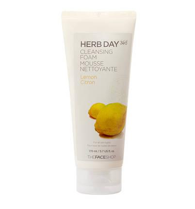 Пенка с лимон The Face Shop Herb Day 365 Cleansing Foam Lemon,170 мл , фото 2