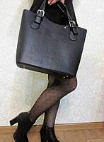 Женская сумка деловая из эко кожи черная