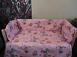 Защита и комплект постели в детскую кроватку, фото 5