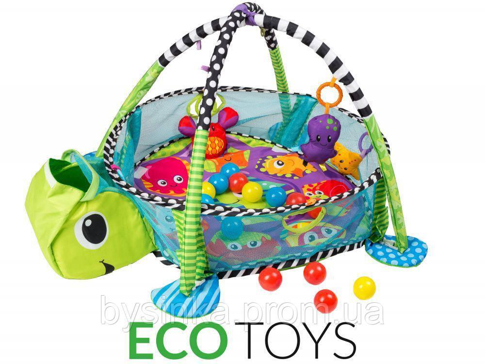 Детский развивающий коврик Черепаха марки ECOTOYS