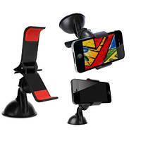 Автомобильный держатель на стекло для смартфона, GPS, плеера