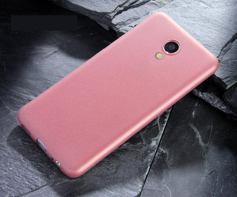 Чехол MAKAVO для Meizu M5 Бампер Матовый ультратонкий розовый