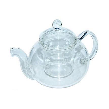 Заварочный чайник Жемчужина со стеклянным ситом и крышечкой, 1200 мл, фото 2