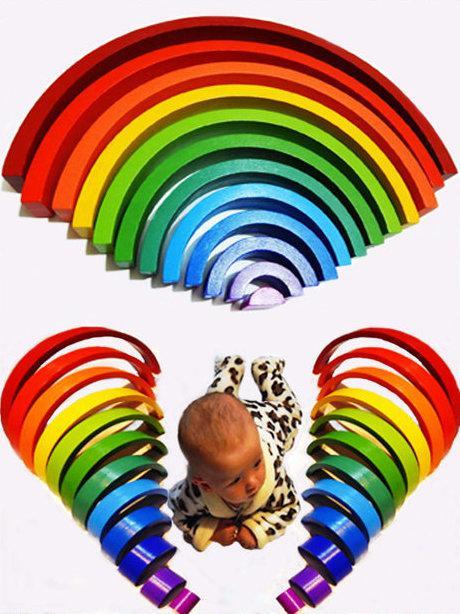 """Пірамідка Hega """"Веселка"""" 12 кольорів (136)"""