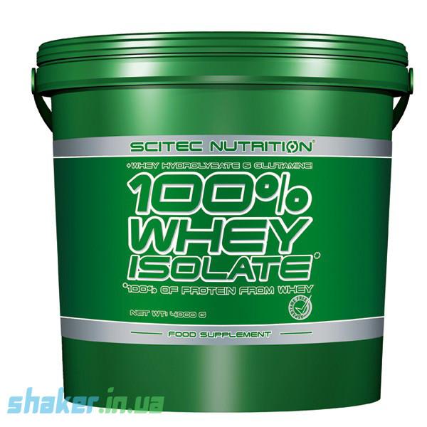 Сывороточный протеин изолят Scitec Nutrition 100% Whey Protein Isolate (4 кг) скайтек вей  raspberry