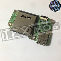 Плата с разъемом USB и карт-ридером Acer Aspire one A0751H-52Bk ZA3