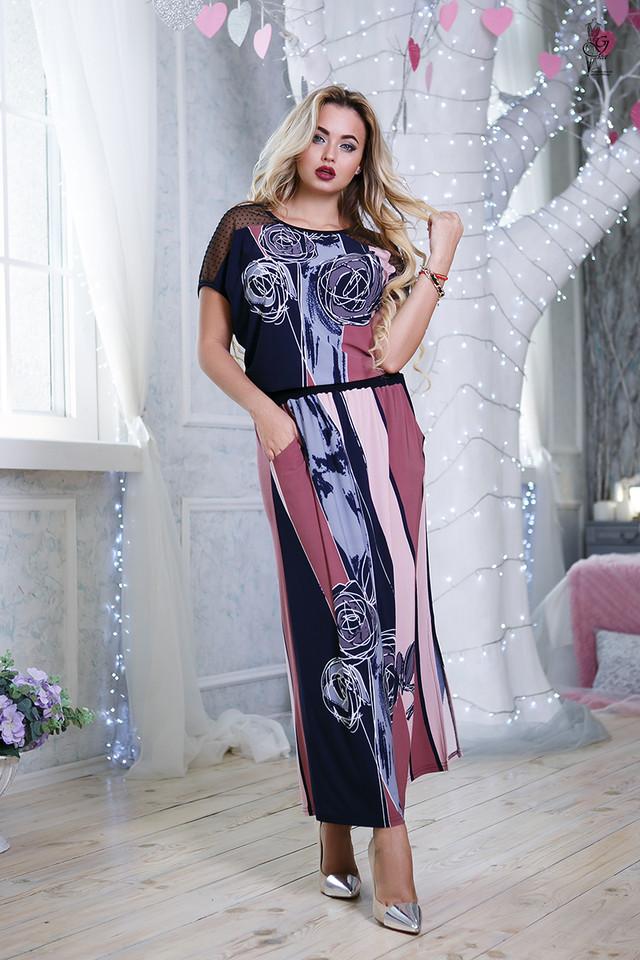 Цвет-3 Длинного ботального летнего платья Ирма