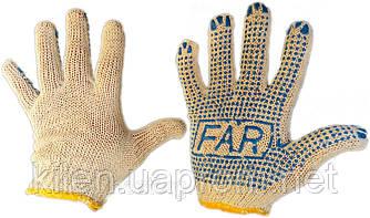 Перчатки FAR хлопчатобумажные с точкою