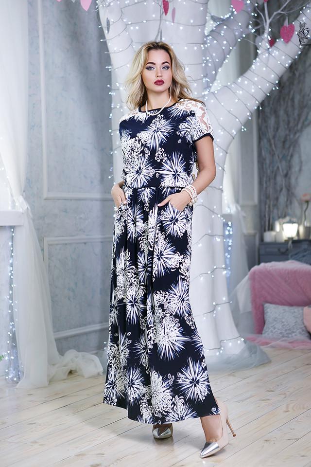 Цвет-5 Длинного ботального летнего платья Ирма