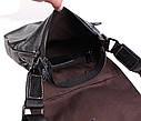 Мужская кожаная сумка BL8006 черная, фото 7