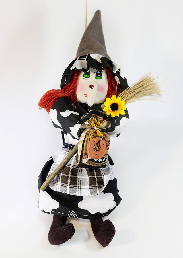 Текстильная кукла Ведьмица  малая 25-30 см