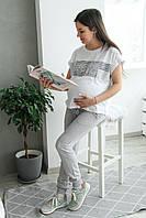 Спортивные штаны для беременных - Меланж