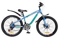"""Детский велосипед 24"""" Discovery FLINT AM DD 2018 для детей 8-12 лет ТМ Discovery Сине-бело-зеленый OPS-DIS-24-078"""
