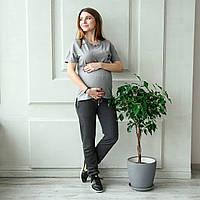 Спортивные штаны для беременных -  Антрацит