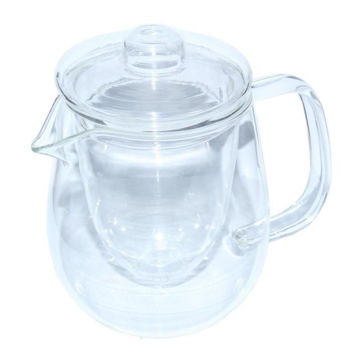 Стеклянный заварочный чайник Наиф стеклянные сито и крышка, 600 мл